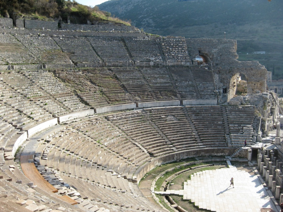The theatre of Ephesus.
