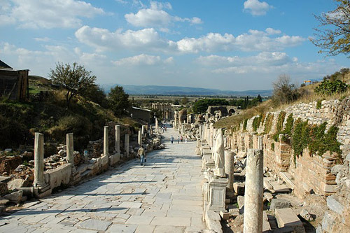 The main road of Ephesus.